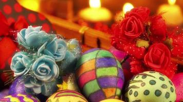 Oster Ostern bunt bemalte Eier video