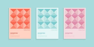 Geometric Abstract Cover Set in Pastel Color vector