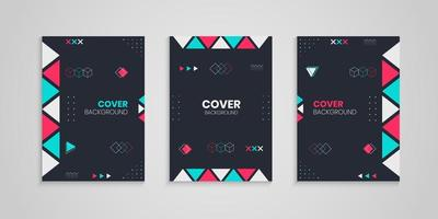 Cover Design Set With Geometric Decoration vector