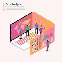 Data analytics tools vector