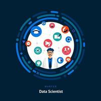 Data Scientist Skills Wanted vector