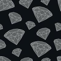 patrón de vector de diamantes en escala de grises