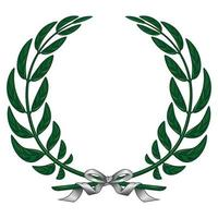 Illustration of laurel wreath tied with ribbon vector