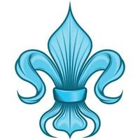 Liz flower vector design, symbol used in medieval heraldry.
