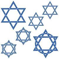 Vector design of intertwined hexagram stars