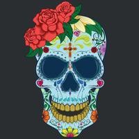 dia de los muertos, calavera de mexico vector