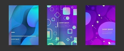 set of colorful abstract geometric backgrounds vector