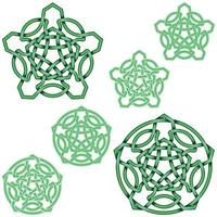 Interlocking five-pointed star design in Celtic style vector