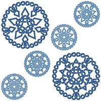 Interlocking stars design with circular decoration in Celtic style vector