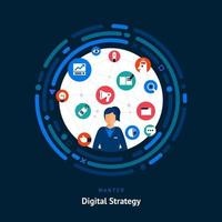 Digital Strategist Skills Wanted vector
