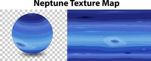 planeta neptuno con mapa de textura de neptuno vector