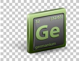 elemento químico germanio vector