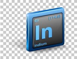 elemento químico indio vector
