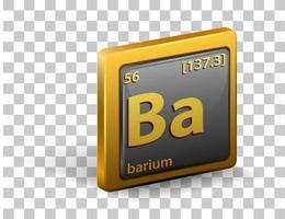 elemento químico de bario vector