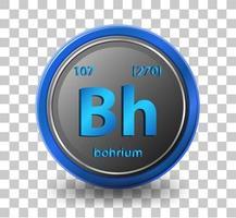elemento químico bohrium vector