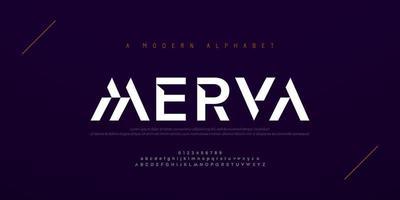 Abstract modern urban alphabet fonts