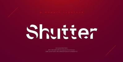 Sport modern urban alphabet fonts vector