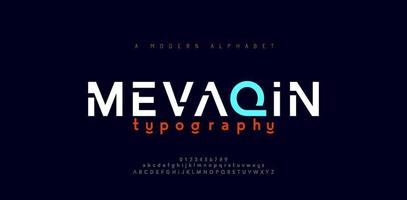 Abstract minimal modern alphabet fonts vector