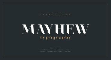 Luxury alphabet letters font vector