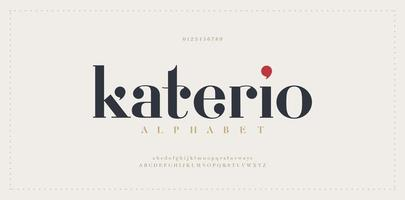 fuente de letras del alfabeto elegante vector