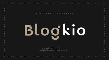 fuentes minimalistas del alfabeto moderno vector