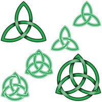 Wiccan symbol design intertwined with circle vector