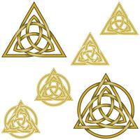 Design of the symbol of wicca, intertwined with circle vector