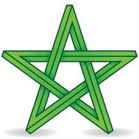 3d star vector design, impossible geometric figure shaped like a five-pointed star