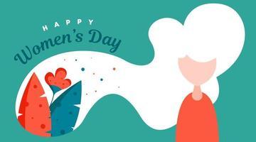 Happy Women's Day Background Illustration Vector