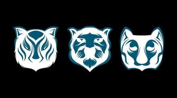 Tiger logo set vector