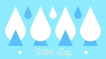 World water day illustration vector