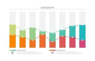 Bar Chart Graph Diagram Statistical Business Infographic Element Template vector