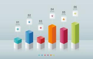 Bar Chart Graph Diagram Statistical Business Infographic Element Template