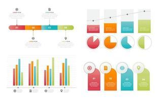 Bar Chart Graph Diagram Statistical Business Infographic Element Set