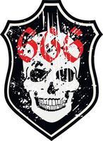 skull and bones, grunge vintage design t shirts vector