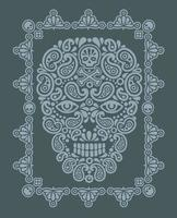 skull and paisley, vintage design t shirts vector