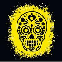 Holy Death, Day of the Dead, mexican sugar skull, grunge vintage design t shirts vector