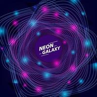 abstract neon color galaxy background template vector