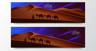 plantilla de banner de cartel de ramadan kareem vector