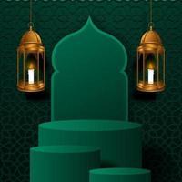 Ramadan kareem mubarak poster banner vector