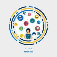 Financial skills wanted vector