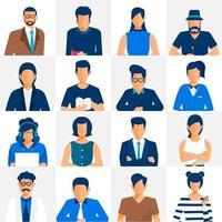 Diverse businessmen and women avatars vector