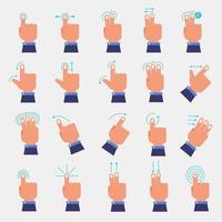 set of hands making finger gestures vector