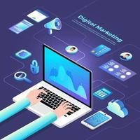 Isometric Digital Marketing vector