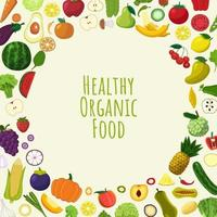 Healthy organic food vector