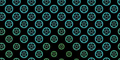 plantilla de vector verde oscuro con signos esotéricos.