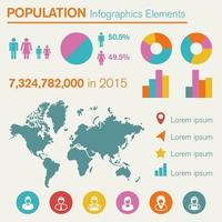 population infographics elements vector