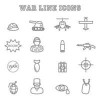 war line icons vector
