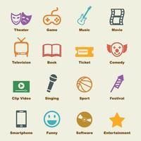 entertainment vector elements