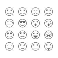 human emotion icons vector